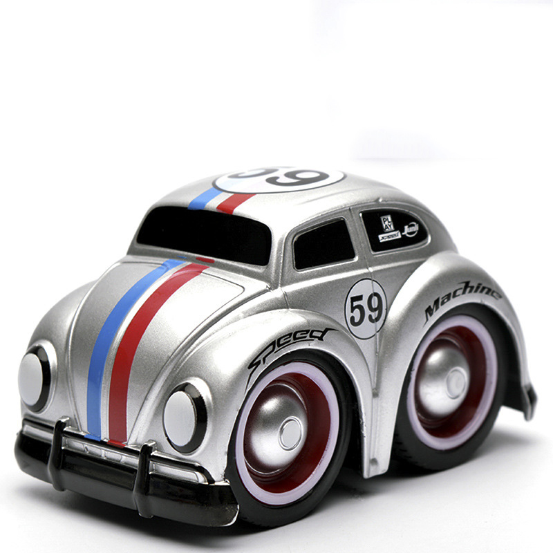 1/32 Model Car Toys Version Collectible Model Collection Kids Toys Car Beetle Diecast Metal Pull Back Car