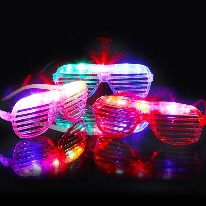 1PC LED Flashing Glasses Glowing Eye Glasses Light Up