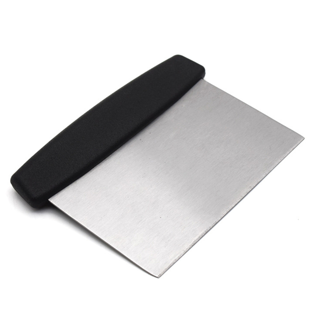 Stainless steel knife pastry cutter black red green