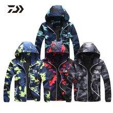 2018 Daiwa vêtements de pêche de haute qualité garder au chaud mince Camouflage vestes de pêche en plein air Sport hommes pêche Camping vêtements