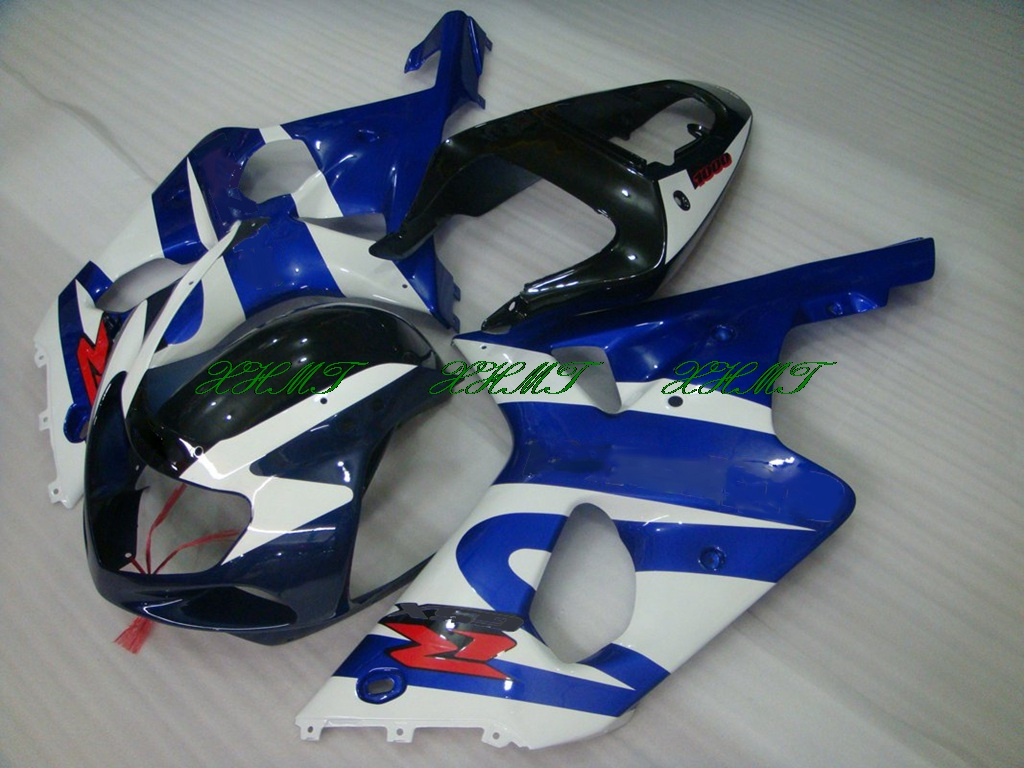 GSX R750 02 03 Motorcycle Fairing Blue for Suzuki GSXR750 Fairings 2001 GSXR 750 01 03 Full Body Kits 2001 - 2003 K1
