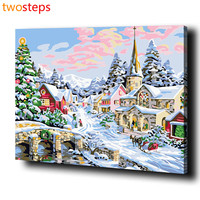 TwoSteps DIY Digital Canvas Oil Painting By Numbers Framed Coloring By Numbers Large Acrylic Paint By