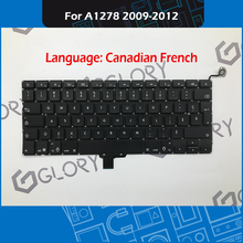 New Laptop A1278 Keyboard for Macbook Pro 13″ Unibody A1278 Canadian French Keyboard Replacement 2009-2012