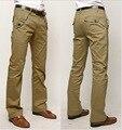 Khaki comerciales masculinos masculinos rectos pantalones casuales pantalones de algodón de alta calidad pantalones de moda los pantalones de traje de pantalones de marca pantalones