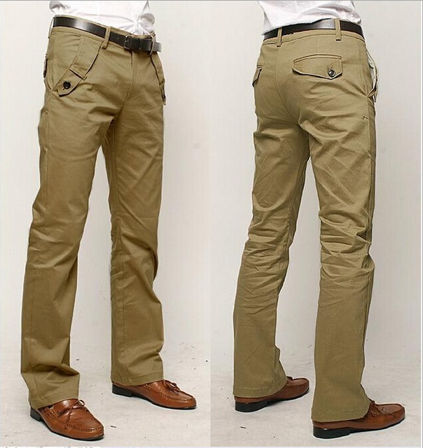 Straight Male casual pants cotton high quality male commercial khaki pants Men's fashion pants suit pants Brand trousers