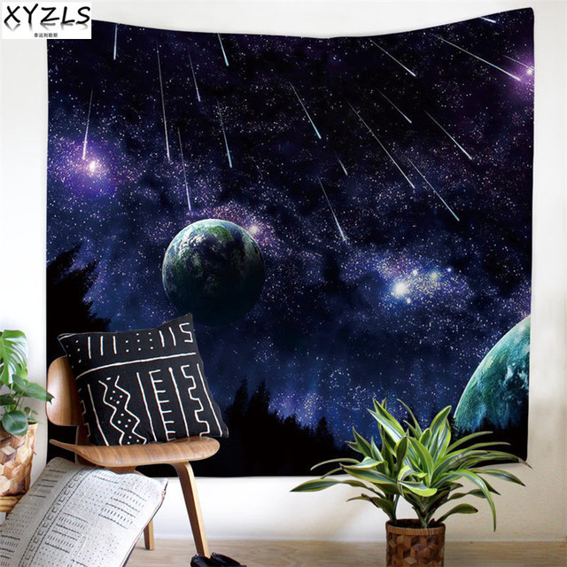 US $14 0 20% OFF|Aliexpress com : Buy XYZLS Universe Planet Wall Tapestry  Rectangle Stars Deco Hanging Cloth Background Cloth Shawl Decoration  Ceiling