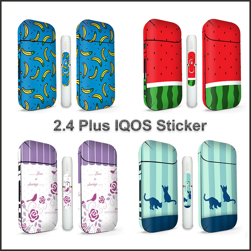 Reasonable 18 Colors 3m High Quality Printing Decorative Stickers Skin Suitable For Iqos 2.4 Plus Skin Sticker Protective Cover Electronic Cigarettes Electronic Cigarette Accessories