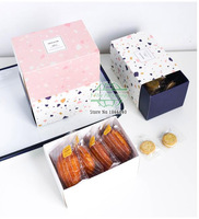10*15*8.8cm Cute sugar candy Chocolates box, biscuit box, Cake,MoonCake snacks Packaging gift Drawer Paper Boxes 100pcs/lot
