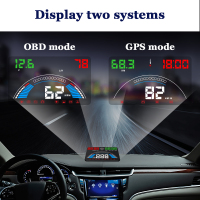 2 Mode S7 Car Speed Projector Automobile Electronics Digital Speedometer Windshield Projector OBD2 Head Up Display OBD 2 HUD