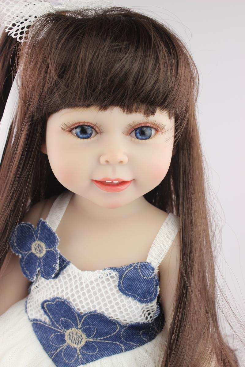Aliexpress Com Buy Vinyl American 18 Inch Girl Doll