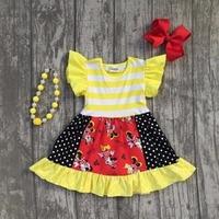 Girls Boutique Dress Clothing Children Kids Minnie Dress Girls Summer Short Sleeve Dress Clothes Boutique Dress