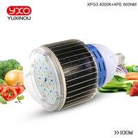 100 Вт CREE xpg3 xpe 660nm спектральная фитопанель свет для Парниковых Гидропоника Крытый расти палатку коммерческие медицинские рост растений
