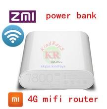 Entsperrt 4g wifi router Zmi MF855 7800 MAH mifi 3G 4G lte router 4G Wireless Wifi Router Bewegliche Energienbank 7800 mAh pk e5776 e589
