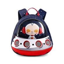 Toddler Kids Backpack 3D Rocket Space Cartoon Pre School Bags Children Backpacks Kindergarten UFO Mochila