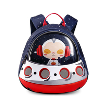 alnaue Toddler 3D Rocket Space Cartoon Pre Backpacks