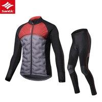 Мужская зимняя одежда для велоспорта с длинным рукавом комплекты для велоспорта термальная флисовая майка ветрозащитная Светоотражающая