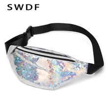 SWDF New Waist Bags Women Designer Fanny Pack Fashion PU Belt Bag Holographic Colored Chest Crossbody Womens Purse Sac