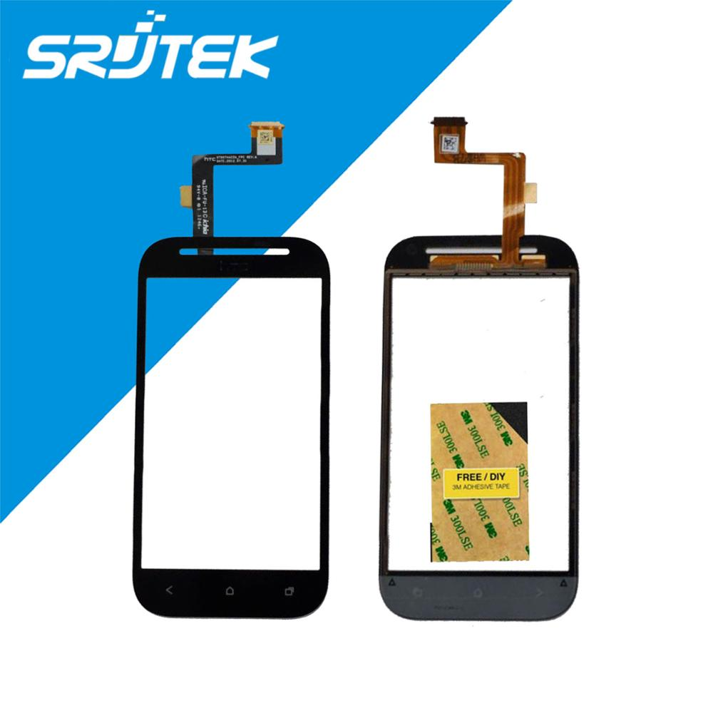 Black New Front Glass Panel Lens Touch Screen Digitizer For HTC Desire SV T326E Replacement Repair Parts 100% New