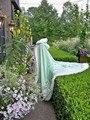 2016 Custom Made Sage Green / Ivory Satin Bridal cape Winter Wedding Cloak for Woman Faux Fur Wedding Warm shawl
