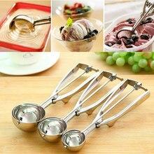 Cuillère en acier inoxydable, ustensile de cuisine avec manche à ressort, ustensile de cuisine en gros 3 tailles au choix z0