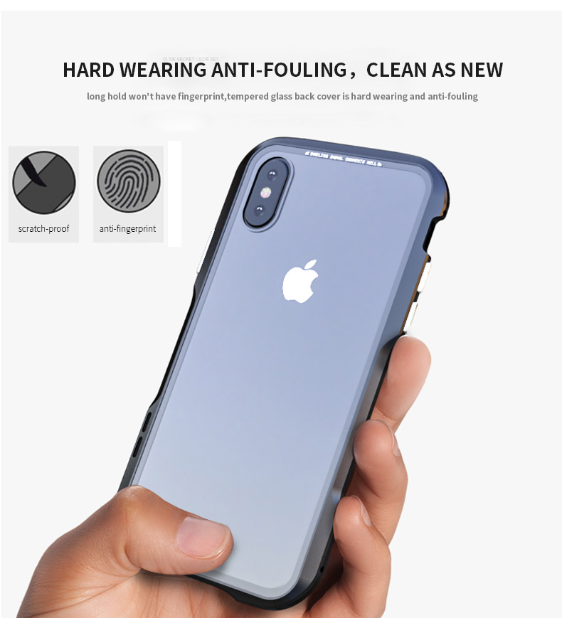 For iPhone X Magnetic Adsorption Cases Shockproof Metal Bumper (22)