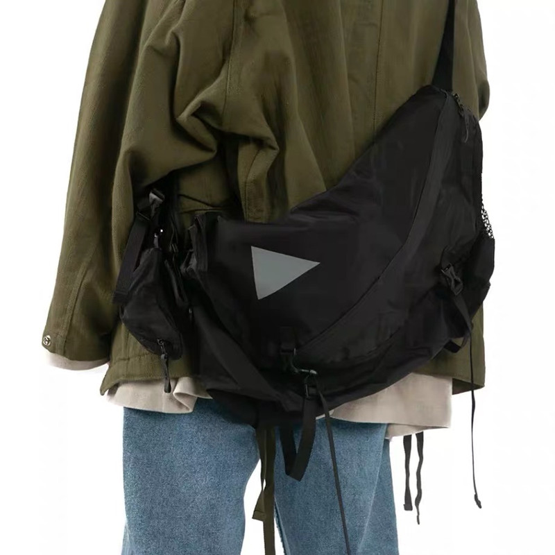 Fashion Male Shoulder Bag  Street Waterproof Cross Chest Bag For Men Hip Hop Streetwear Women Large Crossbody Messenger Bag 577