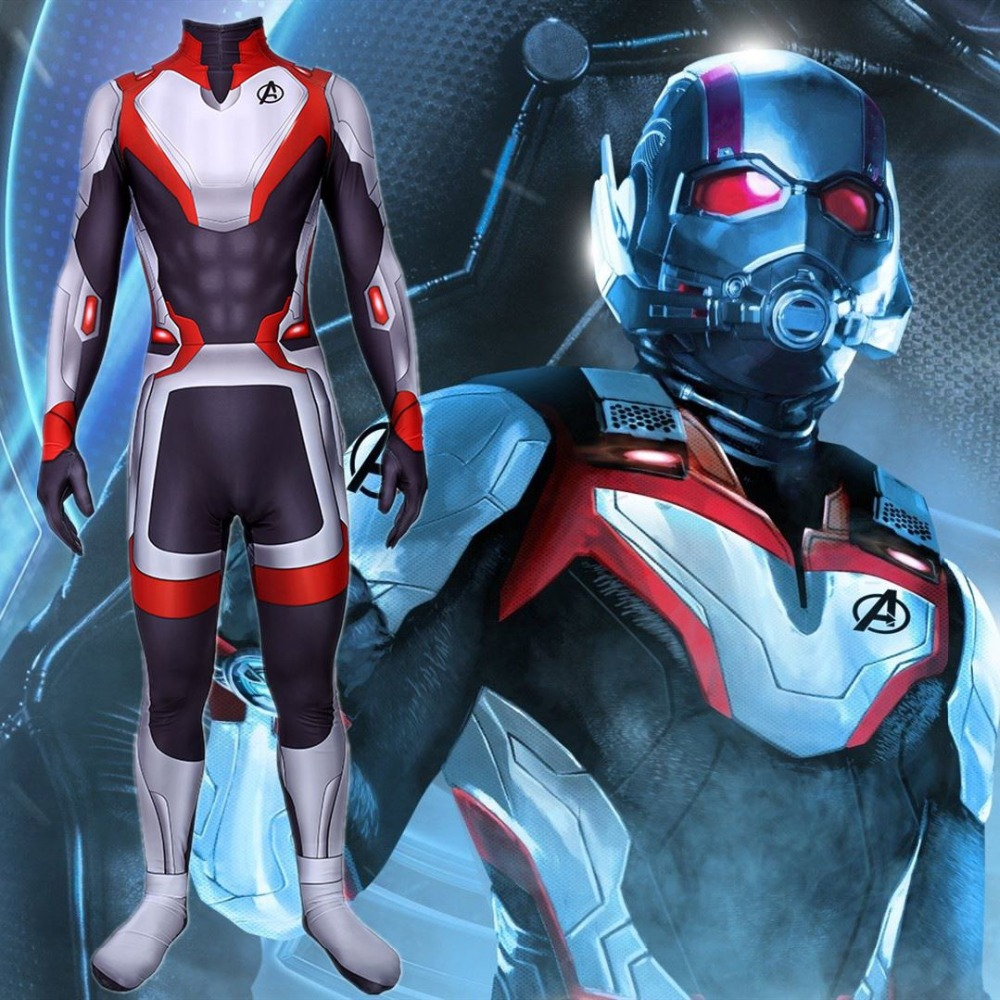 Avengers 4 Endgame Advanced Tech Cosplay Cosutme Zentai Bodysuit Suit Jumpsuits
