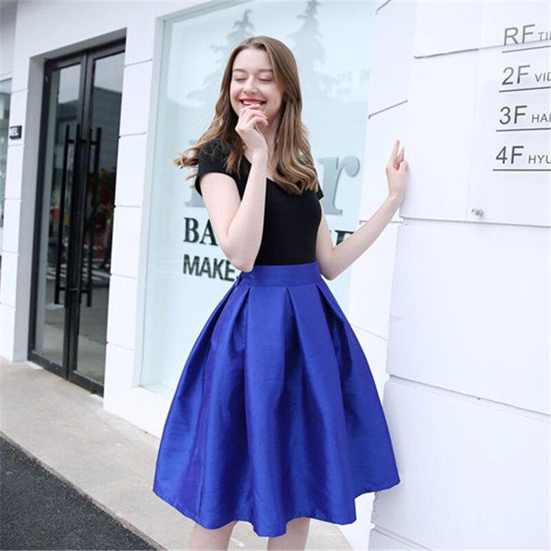 Online Get Cheap Royal Blue Pleated Skirt -Aliexpress.com ...