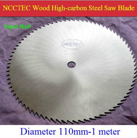 18'' 80 Teeth NCCTEC High-carbon #65 Manganese Steel Wood Cutters For Cutting Expensive WOOD | 450mm SUPER THIN 2.2mm Saw Blade