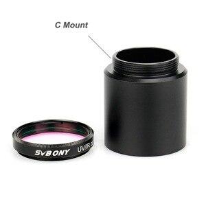"""Image 2 - Svbony 1.25インチのuv/irカットフィルター望遠鏡光学infrate赤フィルターccdカメラw/cマウント1.25 """"ビデオカメラバレルアダプタ"""