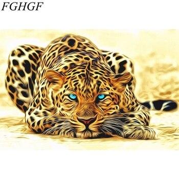 FGHGF Malerei Durch Zahlen Färbung Durch Zahlen Wohnkultur Leinwand Tigers Wand Kunst Acryl Gemälde Handgemalte Modulare Bilder