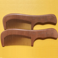Multifunctional Beard Comb Hair Comb Hairbrush for Men and Women Wooden Folding Anti static Mustache and Beard Comb Tools
