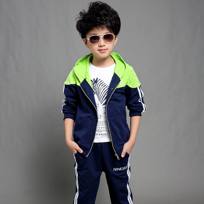 Boys Tracksuit Clothes set Kids Hooded Spring&Autumn Cotton School Uniform Sport Suit Boy Clothing Sets 4 6 8 10 12 14 year children clothing sets for teenage boys and girls camouflage sports clothing spring autumn kids clothes suit 4 6 8 10 12 14 year