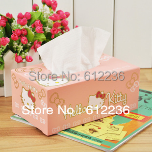 Cartoon Hello Kitty Tissue box wood towel box beautiful home decorations Household Sundries hot sale high quality new arrival