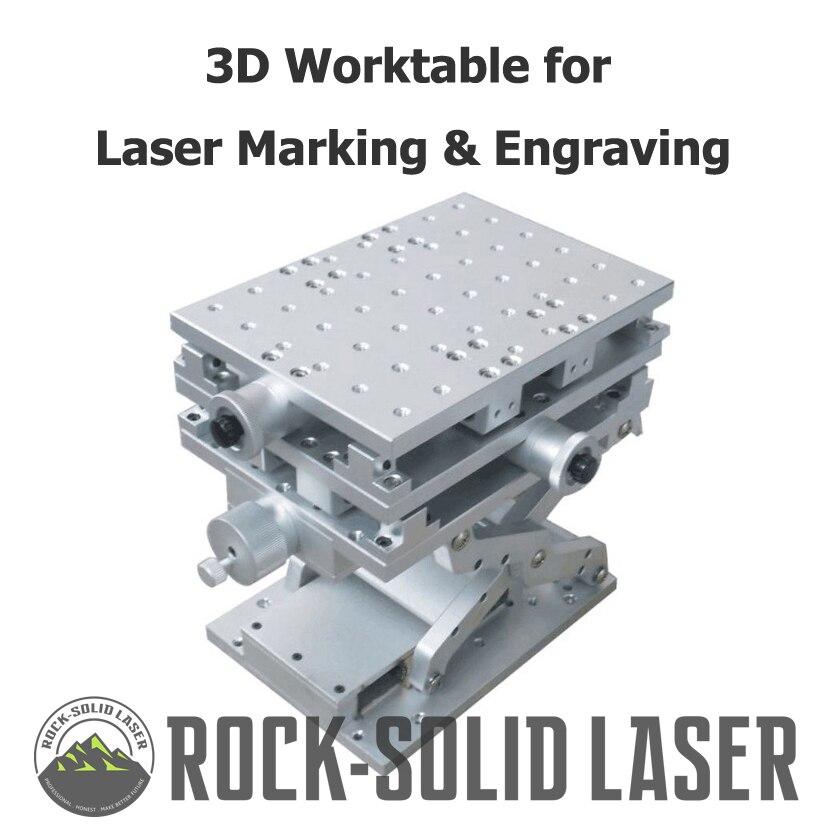3D рабочий стол 3 оси перемещение верстак DIY Рабочая часть волокно CO2 лазерной маркировочная гравировальная машина прямые поставки с фабрики ...