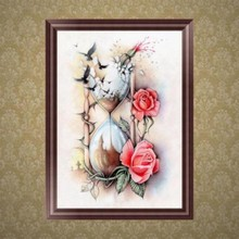 5D Diamond Flower Hourglass Embroidery Painting Cross Stitch DIY Craft Decor #Aug.29(China)