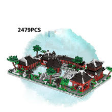hot city creators Street view 6 in 1house Architecture drawing garden of Suzhou China moc building blocks model toys for gift