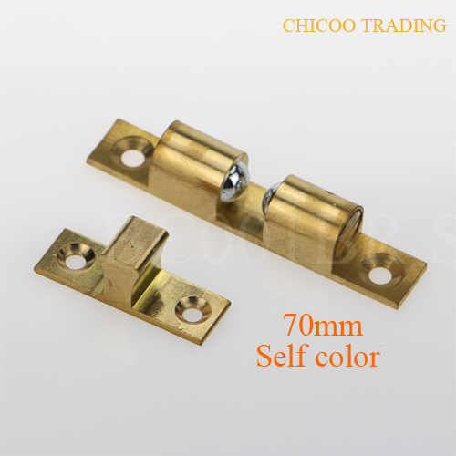 self color 70mm Brass Double Ball Catch furniture door stopper Cabinet Door latch-in Cabinet Catches from Home Improvement on Aliexpress.com | Alibaba Group & self color 70mm Brass Double Ball Catch furniture door stopper ...