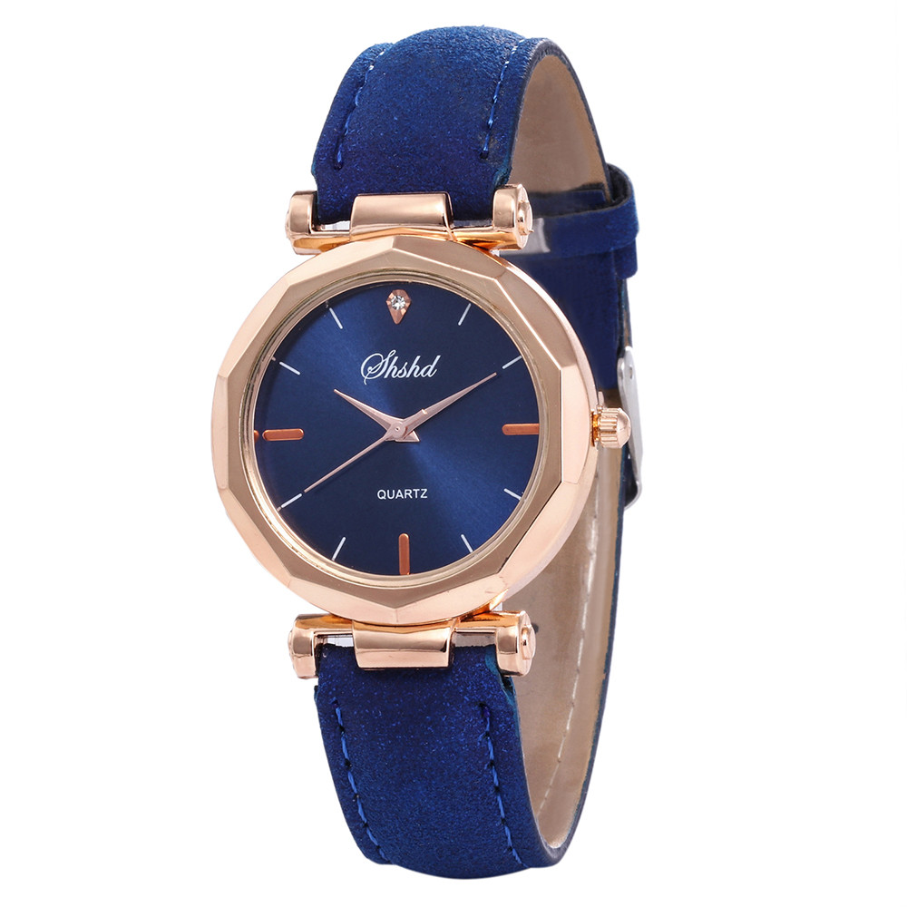 New Fashion Women Leather Band Casual Watch Hot Sale Luxury Analog Quartz Crystal Wristwatch Simple Small Strap Watch Clock
