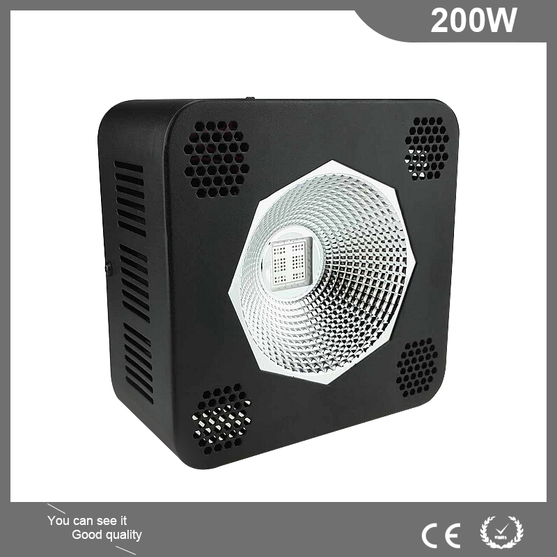 200W COB LED Grow Light with Reflector Full Spectrum LED Lights Growing Plants Lamps for Plants Seedlings Greenhouse indoor 250w grow light kits with adjustable a wing reflector