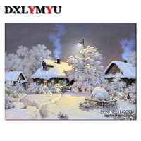 Full Diamond Embroidery Landscape 5d Diamond Painting Crystal Cross Stitch Diy Diamond Mosaic Snow Scenery
