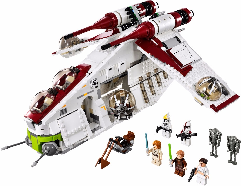 Lepin 05041 Star Series War Genuine the legoingly The Republic Model Gunship Set Educational Building Blocks Bricks Toys 75021 new 5041 star wars series the the republic gunship building blocks bricks toys compatible with legoingly children model starwars