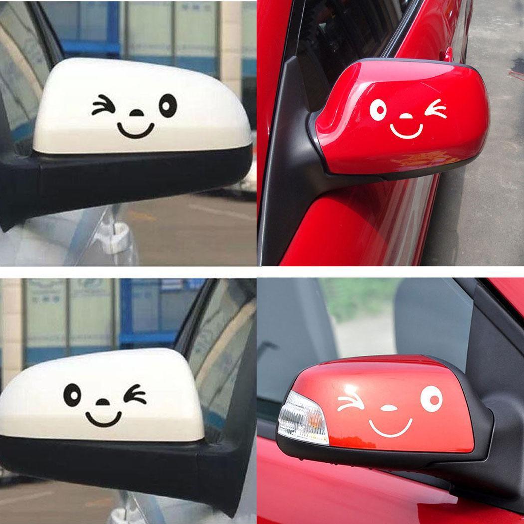 Sailnovo Blinking Smile Design Car Stickers 12 X 14 Cm 3D Decoration Sticker For Car Side Mirror Rearview