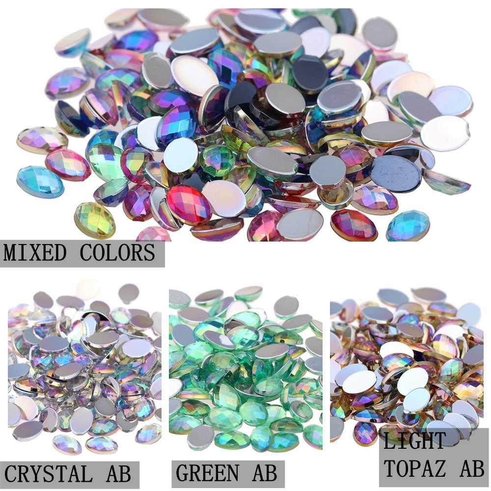 ... Oval Shape Earth Face 3 Sizes Acrylic Rhinestones Flatback AB Colors  Glue On Beads Clothing Gems ... bd8fa35ff7c3