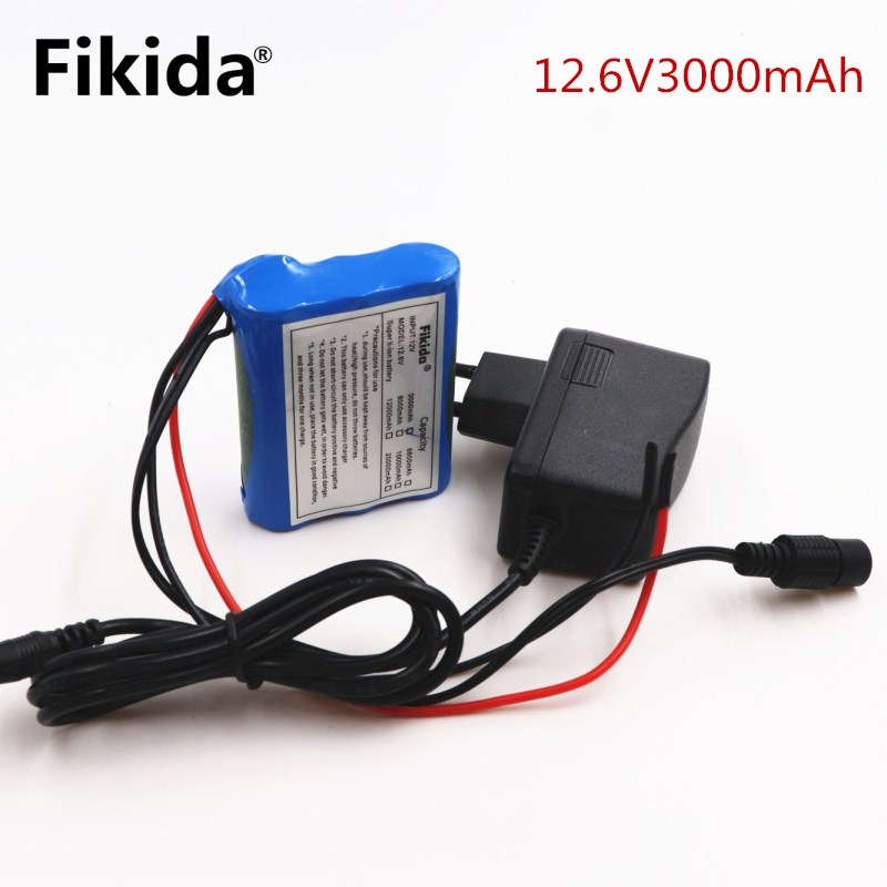 2018 New 12 V 3000 mAh 18650 Li-ion Rechargeable battery Pack for CCTV Camera 3A Batteri ...