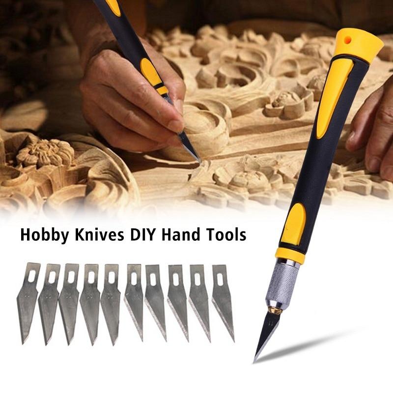 WL-9302S Нескользящая металлическая ручка скальпель деревянная Бумага Резак гравировка скульптура искусство ручка Хобби DIY ручные инструменты