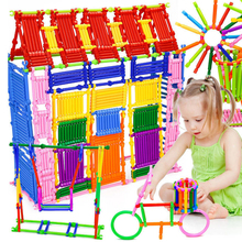 Girls DIY Sticks Assembly Toy for Children 3D Model Building Kits Kids Educational Construction Stacking Blocks Interconnecting