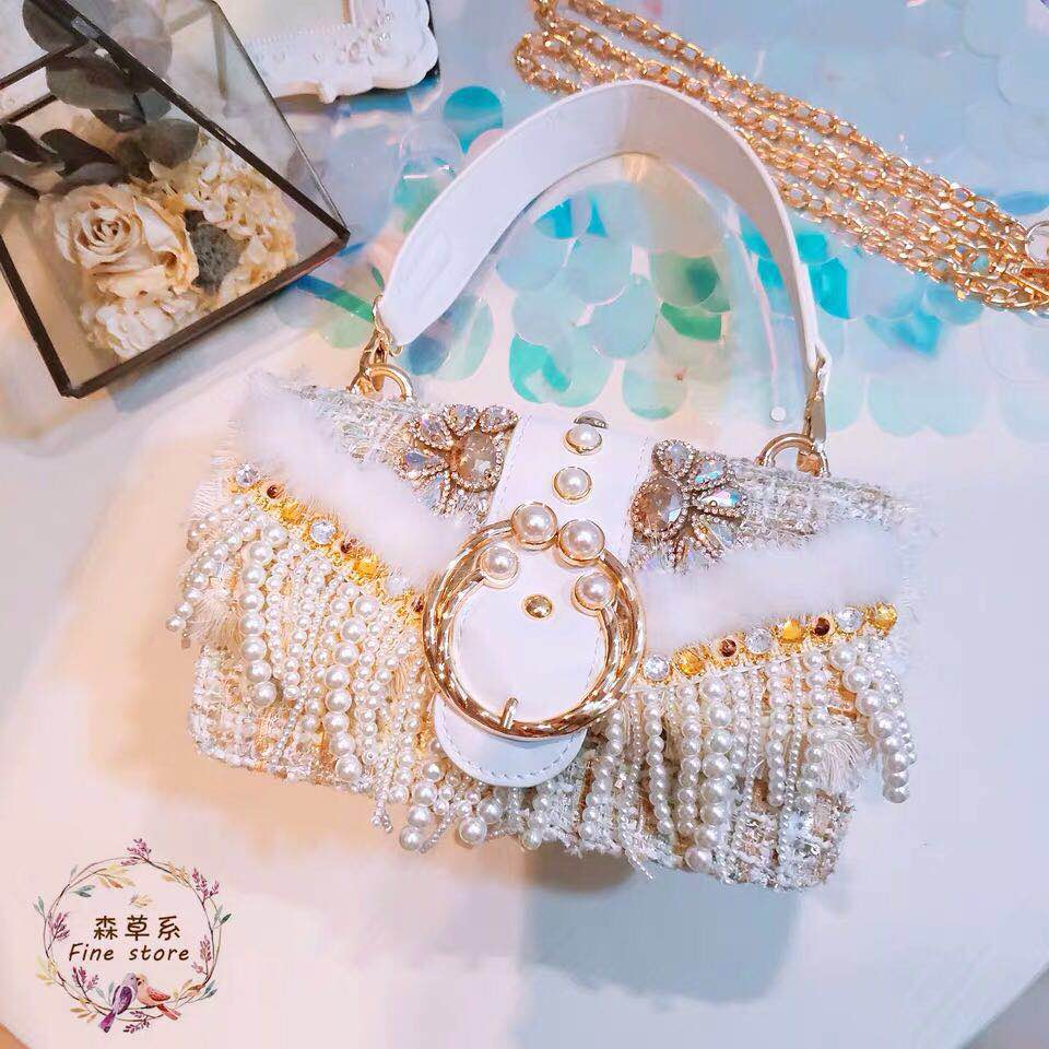 Pearl Diamond handbag