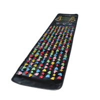 Medialbranch Colorful Plastic Foot Massager Pad Acupuncture Cobblestone Yoga Mat 175 35cm H7JP