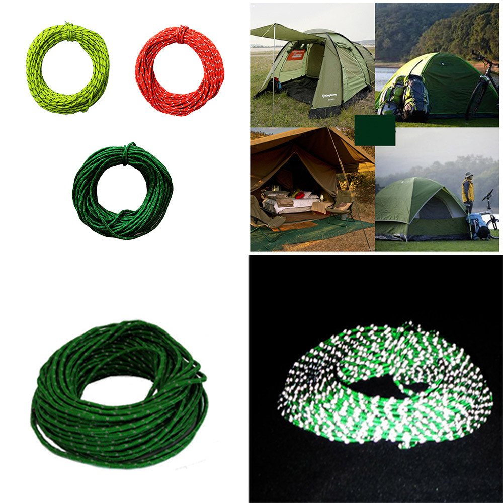 High Quality Durable 2.5mm Reflective Para Cord High Strength Woven Nylon Rope Wind Rope Tent For Camping Hiking Practical Tool